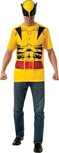 Rubie's Costume Men's Marvel Universe Wolverine Adult Costume Tee and Eye Mask
