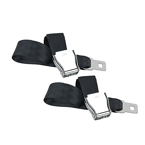 E4 SAFETY CERTIFIED Airplane Seatbelt Extensions (2-pack) - FITS ALL AIRLINES (except Southwest) - FREE VELOUR POUCH (United Airline Seatbelt Extender compare prices)