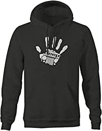 Jeep Wave Handprint Grill Wrangler Club Pullover Sweatshirt - 4XL