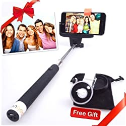 Gifts for her, selfie stick,kengadget monopod with adjustable holder fit for iphone 5,6,6 Plus,android phone,samsung galaxy s6,s5.built-in Bluetooth Remote Shutter easy for Self Shooting & self-Portrait.Ideal present for Men,women,him,her,boyfriend.