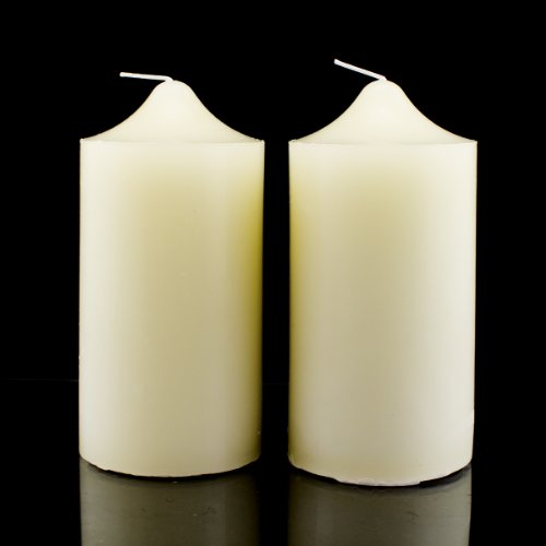 Hanna's 3x6 Pillar Candle (Ivory Unscented) - 3x6-Unscented