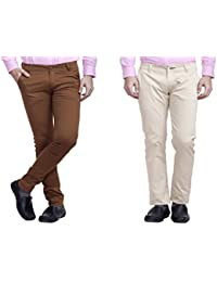 Winsome Deal Combo Of Men's Cotton Slim Fit Chinos Pant - B01DAEAJA8