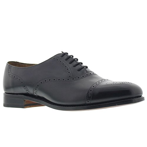 Barker Mens Gatwick Black Leather Shoes 10 UK