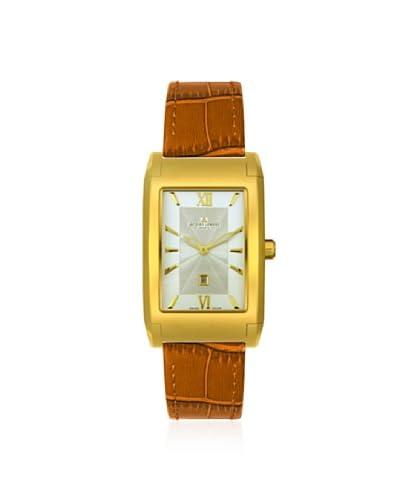Jacques Lemans Men's GU182E Geneve Sigma Gold-Tone/Brown Leather Watch