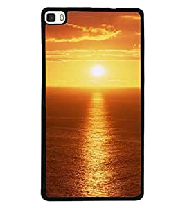 Printvisa Sunset Scenic Pic Back Case Cover for Huawei P8