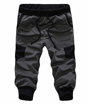 SoEnvy Men's Casual Harem Training Jogger Sport Short Baggy Pants