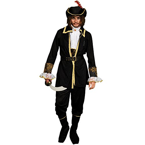 Morphsuits Men's Morphcostume Co Captain Walker D Plank Pirate Male Costume