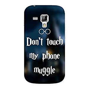 Ajay Enterprises Designer Dont Touch Back Case Cover for Galaxy S Duos