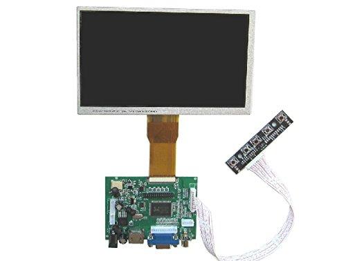 "Makerfire® 7"" Raspberry Pi Lcd Display Screen Tft Monitor At070Tn90 With Hdmi Vga Input Driver Board Controller Diy"