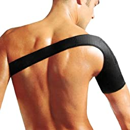 uxcell® Elastic Single Sleeves Shoulder Support Protector Brace Black