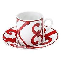 Hermes エルメス Balcon du Guadalquivir コーヒーカップ&ソーサー 10cl 011017P 2個セット 並行輸入品