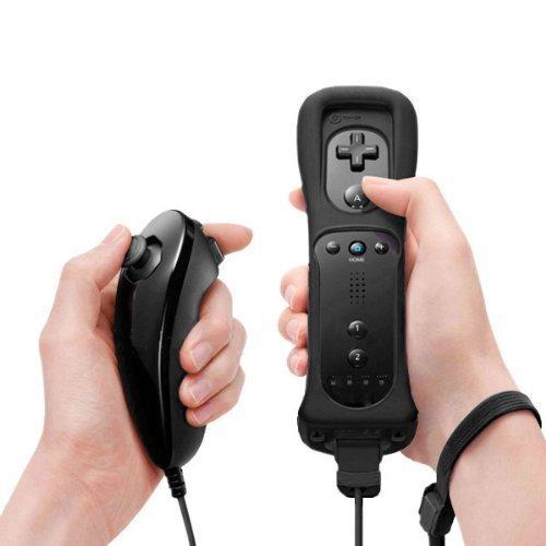 Coresmart Black Wii Remote+Nunchuk
