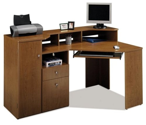 Buy Low Price Comfortable Bush Ashland Collection Corner Computer Desk Office Desk (B000IID1EG)