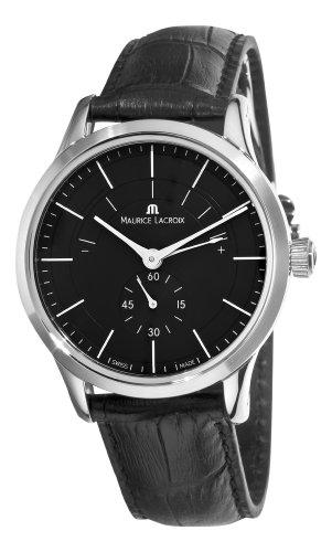 Maurice Lacroix Men's LC7008-SS001330 Les Classiques Quartz Black Power Reserve Indicator Dial Watch