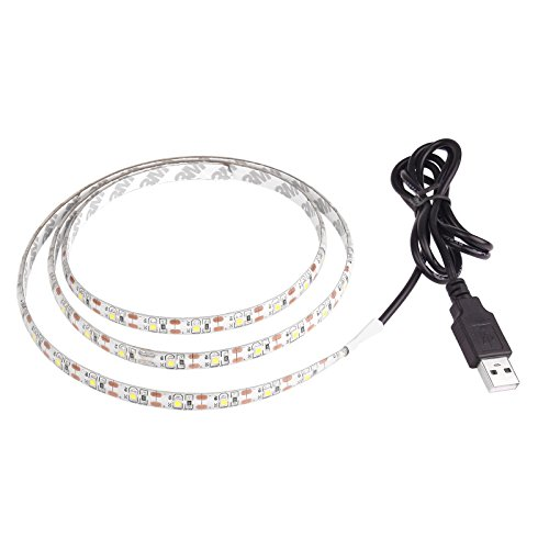 Lemonbest 2m Resin Flexible USB LED Lights Strip Ribbon 3528smd 120leds 5V Waterproof Cool White (5v Led Light Strip compare prices)