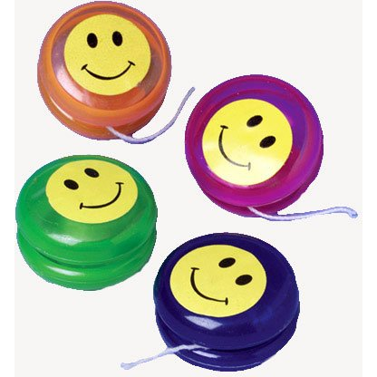 Mini Smiley Face Yo-Yos