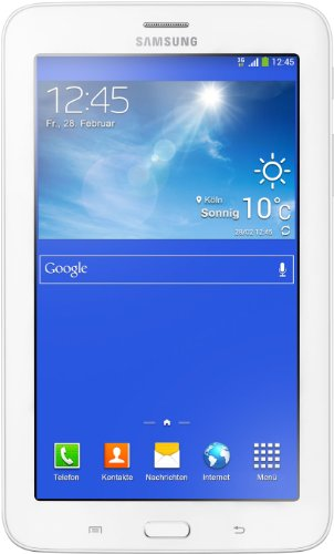 Samsung Galaxy Tab 3 7.0 Lite 17,8 cm (7 Pollici) Tablet-PC 3G e WIFI (Dual Core Processore, 1,2GHz, 1GB RAM, 8GB HDD, Android 4.2) Bianco [Italia]
