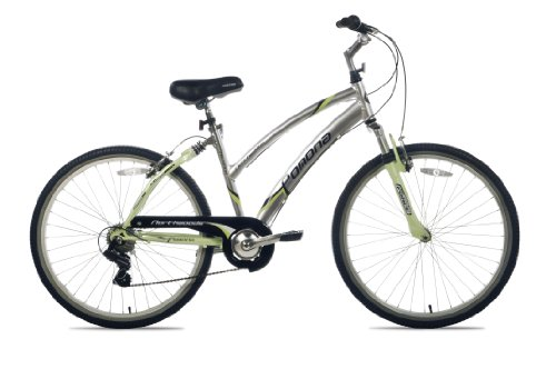 Northwoods Pomona Women's Cruiser Bike (26-Inch Wheels), Silver/Green