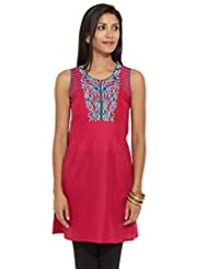 Lovely Lady Ladies Cotton Straight Kurta - B00MMERHE4