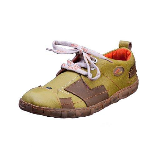 TMA EYES 2618 Schnürer Gr.37-42 mit bequemen perforiertem Fußbett 100% Leder 39.35 super leichter Schuh der neuen Saison. ATMUNGSAKTIV in Gruen Gr. 41
