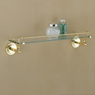 Organize It All 16913 Glass Shelf with Brass Mounts and Rail 2012 Chicago at Sears.com