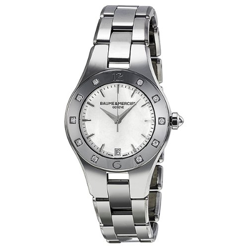 Baume et Mercier Linea Mother of Pearl Stainless Steel Ladies Watch MOA10071