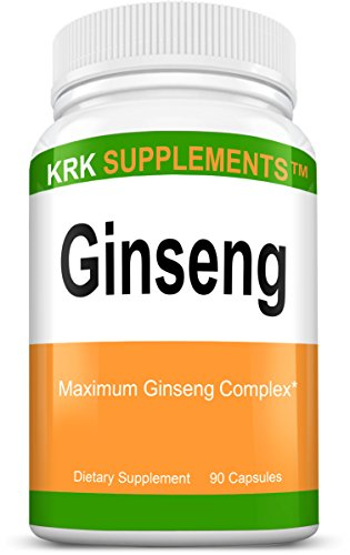 1 Bottle Ginseng 1000Mg Per Serving Panax Ginseng Eleutherococcus Senticosus Extract Korean Ginseng 90 Capsules Krk Supplements