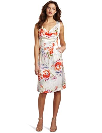 Pendleton Women's Sweetheart Dress, Floral Splash Print, 4