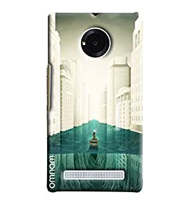 Omnam Person Drcing Baot In The City Printed Designer Back Cover Case For Micromax Yuphoria
