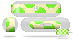 Kearas Polka Dots Lime On Cream Decal Style Skin - fits Beats Pill Plus (BEATS PILL NOT INCLUDED)