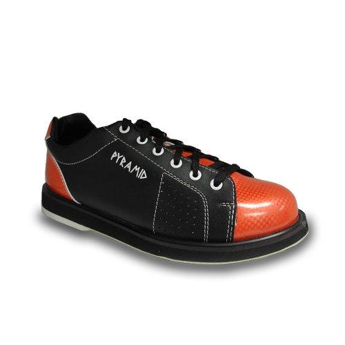 free shipping pyramid mens path bowling shoes black orange