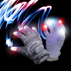 LED Patriotic Sequin Glove - Right Hand - 1
