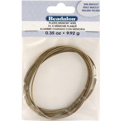 Beadalon Memory Wire Oval Bracelet, Antique Brass, 0.35-Ounce (Beadalon Bead Bumpers compare prices)