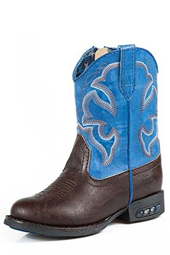 Roper-Toddler-Boys-Blue-Faux-Leather-Light-Up-Cowboy-Boot-Square-Toe-09-017-1201-1233-Br
