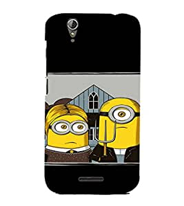 EPICCASE Mr Mrs. Minion Mobile Back Case Cover For Acer Liquid Z630 (Designer Case)