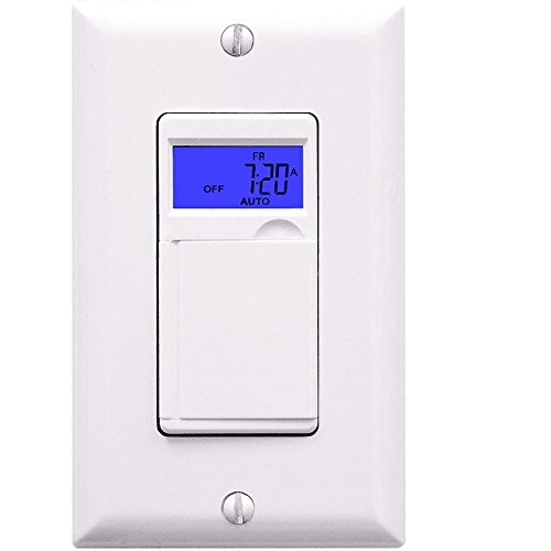 Enerlites HET01 Programmable Timer Switch for fan, light, Motor, 7-Day 18 ON/OFF, RND / DSL Mode, NEUTRAL WIRE REQUIRED - White (Electronic Fan Timer compare prices)