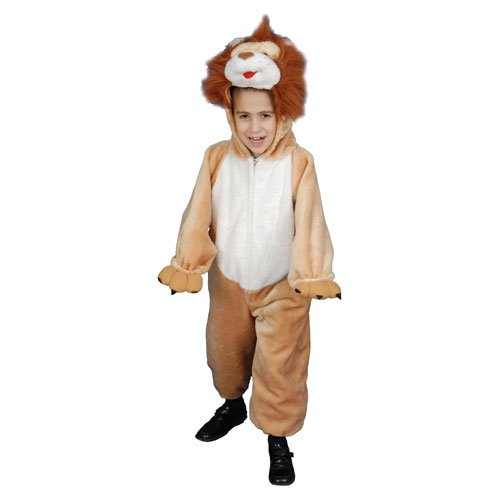 Kids Plush Roaring Lion Costume - Size Toddler T2