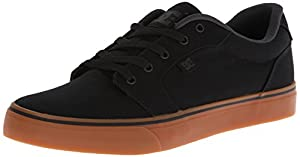 DC Men's Anvil TX Skate Shoe,Black/Gum,13 M US