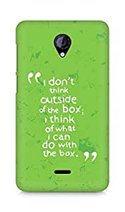 AMEZ i dont think out of the box Back Cover For Micromax Unite 2 A106