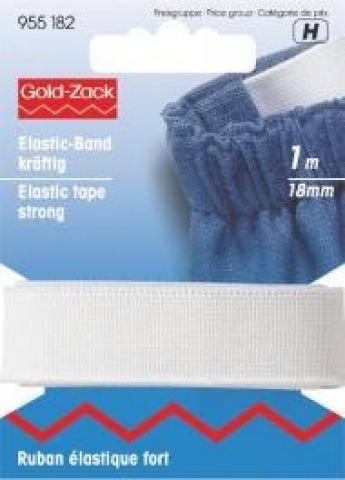 Ruban élastique résistant 18 mm blanc
