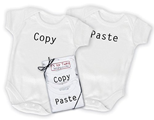 Copy and Paste Onesie Set for Twins (0-6 month)