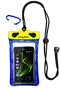"DRY PAK DP-46 Yellow/Blue 4"" x 6"" GPS, MP3, Cell Phone Case"