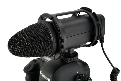 Vgear Vgmic Stereo Video Microphone With Wind Screen For Dslr And Vdslr Cameras (Black)