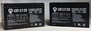UPG UB12120 12v 12Ah 12 volt 12 Amp-hr BATTERY SLA - 2 Pack