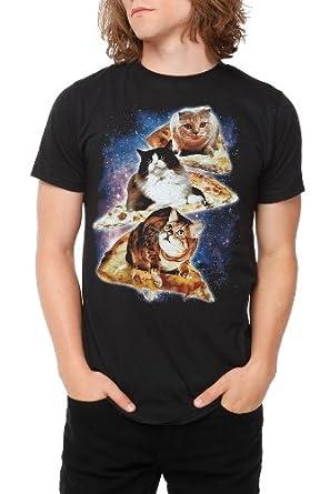 Cat Pizza T-Shirt Size : X-Small