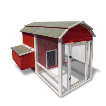 Precision Old Red Barn Chicken Coop 52 by 77 by 51-Inch