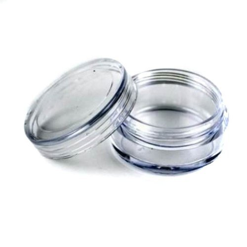 50 pcs New Empty Clear Plastic Cosmetic Containers 3 Gram Size Pot Jars Eye Shadow Container Lot Size:Diameter: 31 mm/1.2 inch Height: 16.5 mm/0.6 inch. (Make Up Small compare prices)