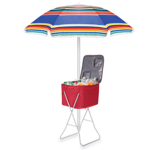 Picnic Time Outdoor Umbrella Multi Color Stripe Sports