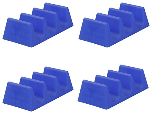 Taco Tender, Taco Holder, Blue, 4 Pack (Taco Bell Tray compare prices)