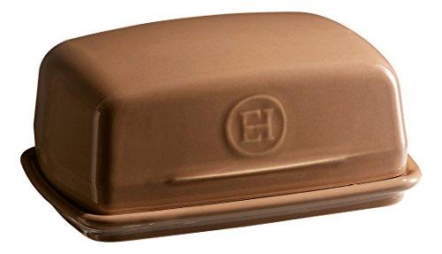 Emile Henry EH960225 Beurrier Céramique Chêne 16,5 x 11,5 x 7,5 cm